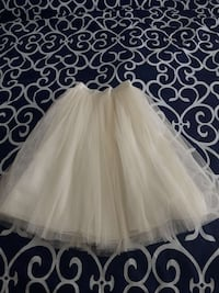 Creamy color tutu skirt size small