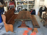 Antique table made from ww2 ship hatch Sterling, 20164