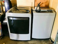 white and black clothes washer and dryer set Meridian, 83642