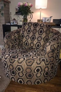 Custom super comfy swivel chair