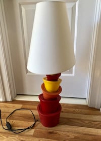 White and red table lamp Mc Lean, 22101