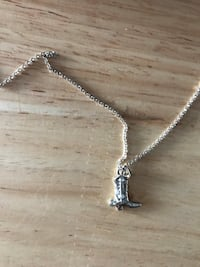 Filly and co Cowboy boot necklace