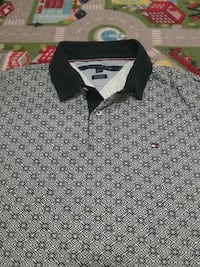 Tommy Hilfiger Grey and Black button-up Golf shirt 481 km