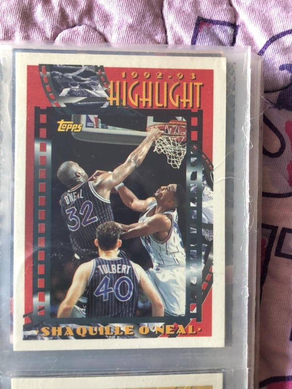 Used 92 93 Shaquille Oneal Topps Highlight Rookie Card