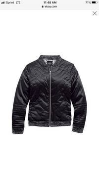 Woman's  mediumHarley Davidson quilted bomber jacket