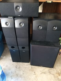 Black home theater speakers Kamloops, V2E 1Y9