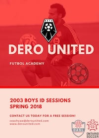 2003 Dero United football academy Courtice, L1E 3J5