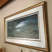 Painting signed print storm watch North Saanich