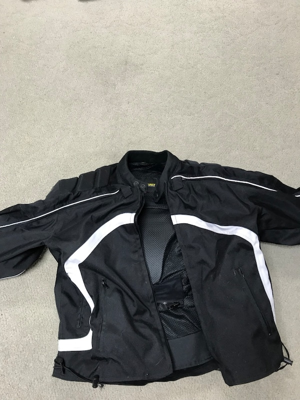 Black Walt Healy nylon motorcycle jacket