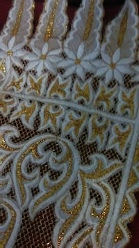 Thailand table runner gold and white silk thread Las Vegas