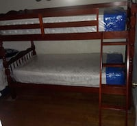Brand new twin over twin bunk bed with two mattresses  Silver Spring, 20902