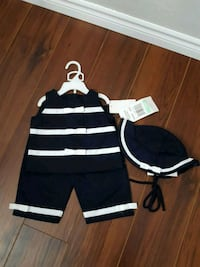 Girl's Three Piece Set. Available Size: 18M and 24M