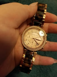 Michael Kors Rose Gold and Tortoise Watch