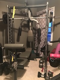 Gym weight set with bench Bryans Road, 20616