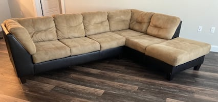 Large, Comfortable Beige Sectional