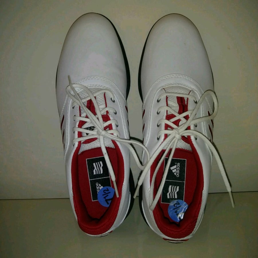 Womens NEW ADIDAS 7.5 US golf shoes WHITE & RED