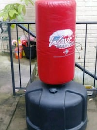 red and black Wave Master free standing heavy bag Falls Church, 22042