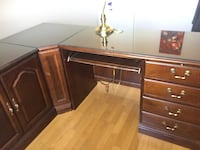 Cherry wood desk and cabinet  Richmond Hill, L4S 1A2