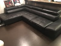 Leather L couch  Richmond, V6Y 1T1