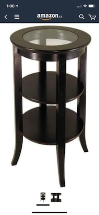 Winsome Wood Round Side Table, Espresso Toronto, M3K 1H5