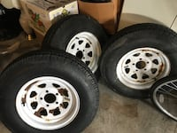 3 White Trailer Rims & Tires 205/75/14 Brantford, N3S 0A3