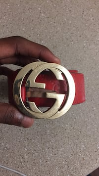 Red and silver gucci belt Houston, 77066