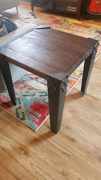 Industrial wood and iron side table Toronto, M5A 1T4