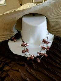 Beautiful rose/gold necklace with earrings new Port Saint Lucie, 34953