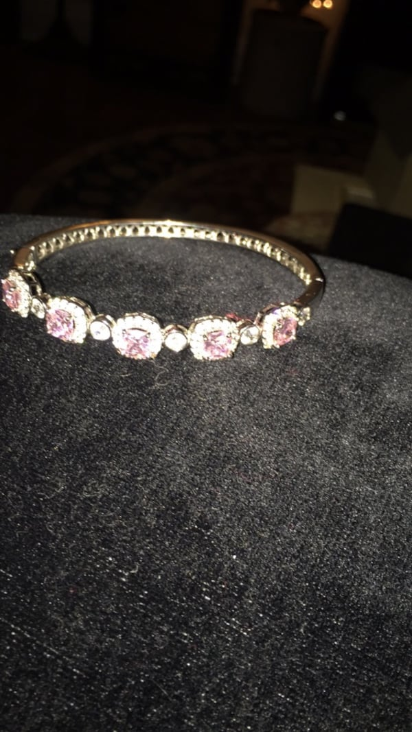 Sterling silver with pink CZ cuff bracelet from Kay jewelers ddcabe28-a3da-48d1-8eec-d18a24263d17