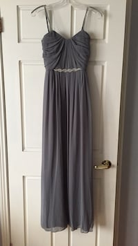 Grey silver gown with rhinestone straps Vaughan, L4L 1S2