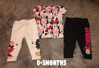 0-3m Minnie Mouse outfit  Roseville, 95678