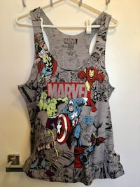 Marvel Superhero Comic tank top size XL
