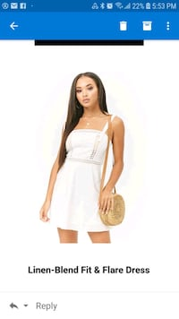 women's white sleeveless dress Toronto, M6K 3P2