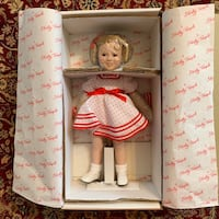 Shirley Temple Porcelain Doll with Doll Stand Herndon, 20170