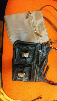 Real leather black an Roots bags. Toronto, M6B 1K1