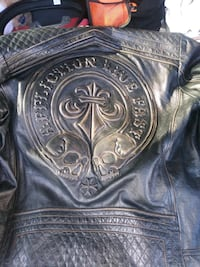 black and brown leather jacket Wilmington, 45177