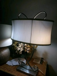 brown wooden base with white lampshade table lamp Metairie, 70003