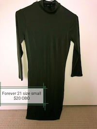 black scoop-neck long-sleeved dress Edmonton, T6K