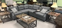 REDUCED Gray sectional w/ outlets, USB ports & cupholder console no credit needed* Essex