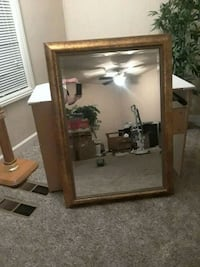 Big framed mirror Redding, 96003