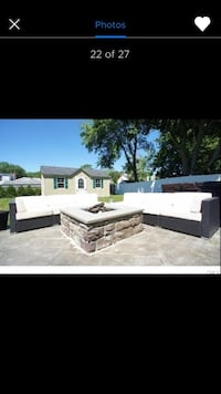 Outdoor sectional and chase lounges