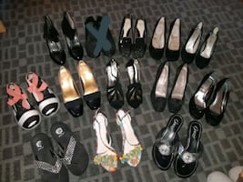 Size 7.5 shoes- message regarding pricing range from $5-15