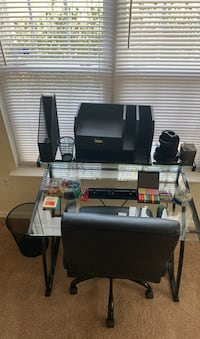 Computer and chair with accessories