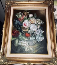 Framed Canvas Floral Painting Manalapan, 07726