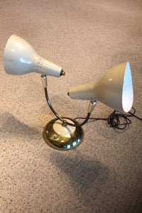 Vintage Desk Gooseneck  Double Lamp