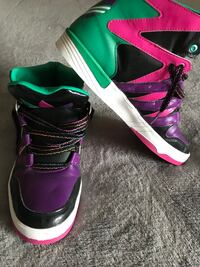 Adidas Pink Purple High Top Funky Sneakers Zumba Dance Shoes Woman's Size 9 Alexandria, 22304