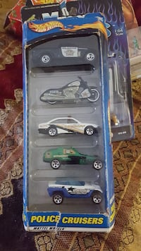 five assorted Police Cruisers in box
