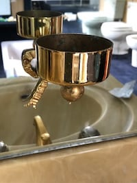 Gold Bathroom Toothbrush Holder LONDON