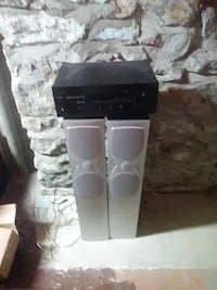 Advent Tower speakers and amp
