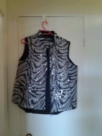 black and gray zebra print sleeveless dress Mississauga, L5A 1A5